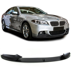 BMW F10 F11 Performance opzetstuk voorlip spoiler mat zwart
