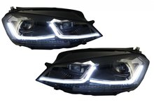 VW Golf 7 LED Koplampen met Golf 7.5 look Dynamische knipperlichten Chroom